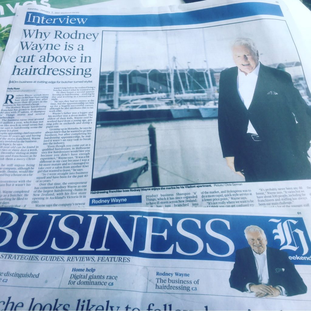 Rodney Wayne headlines in New Zealand Herald
