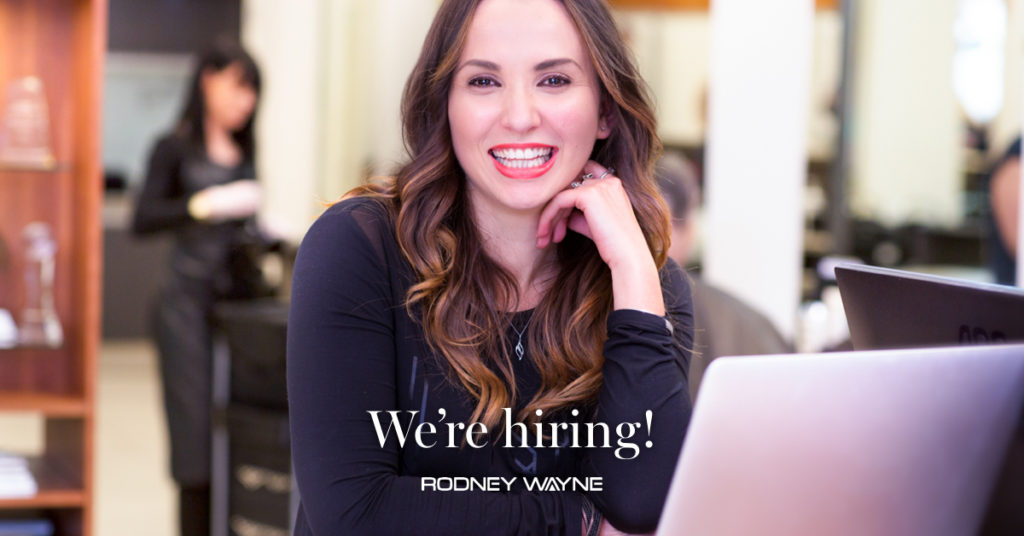 We're hiring! Take your hairdressing career to the next level