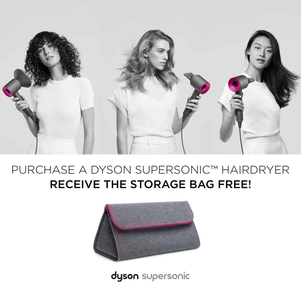 FREE Dyson Supersonic™ hair dryer storage bag